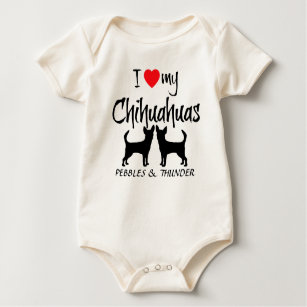 Chihuahua Silhouette Baby Clothes Apparel Zazzle