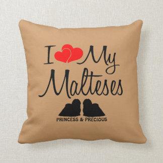 Custom I Love My Two Malteses Pillows