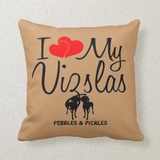 Custom I Love My Two Vizslas Pillows