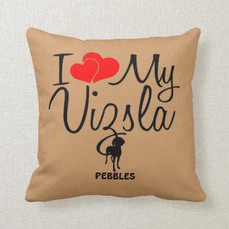 Custom I Love My Vizsla Throw Pillow