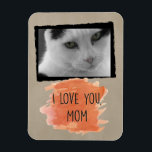 "Custom I Love You Mom Cat Photo Magnet<br><div class=""desc"">Remind yourself how much you&#39;re loved with this Custom I Love You Mom Cat Photo Magnet. Add a favorite photo of your kitty or other beloved pet and prepare your heart to melt every time you look at that sweet face. Perfect for home or office, this custom magnet makes a...</div>"