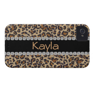 CUSTOM I phone 4 CASE LEOPARD DESIGN