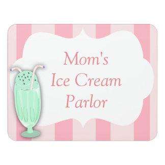 Custom Ice Cream Door Sign