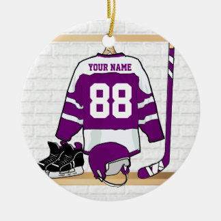 Custom Ice Hockey Jersey Ceramic Ornament