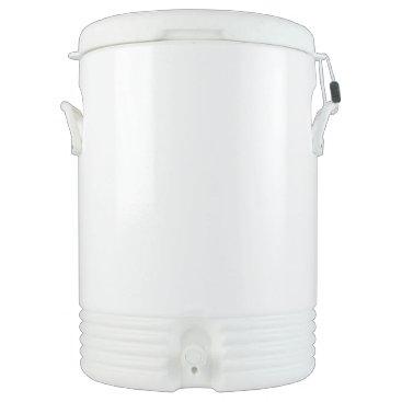 Beach Themed Custom Igloo Beverage Cooler - Ten Gallon