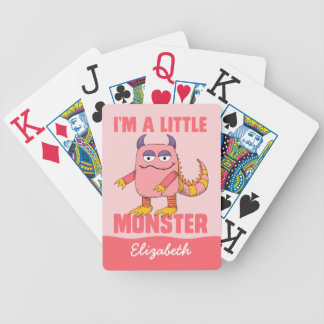 Custom I'm A Little Monster [Add Your Name] Deck Of Cards