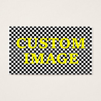Custom Image and Custom Text Business Card