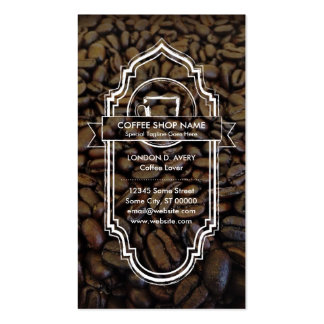 CUSTOM IMAGE coffee loyalty program Business Card