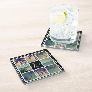 Custom image glass coaster photo collage gift idea
