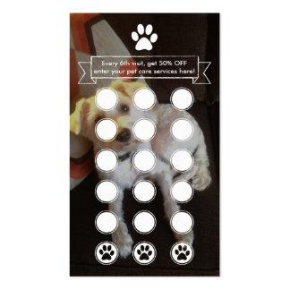 CUSTOM IMAGE pet paw loyalty program Business Card
