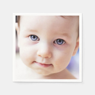Custom Image Photo Birthday Napkins at Zazzle