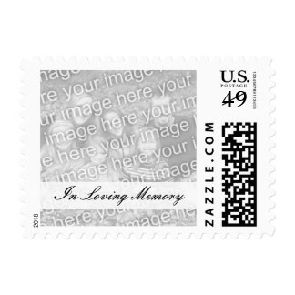 Custom In loving memory memorial photo stamps
