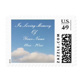 Custom In loving memory memorial postage stamps