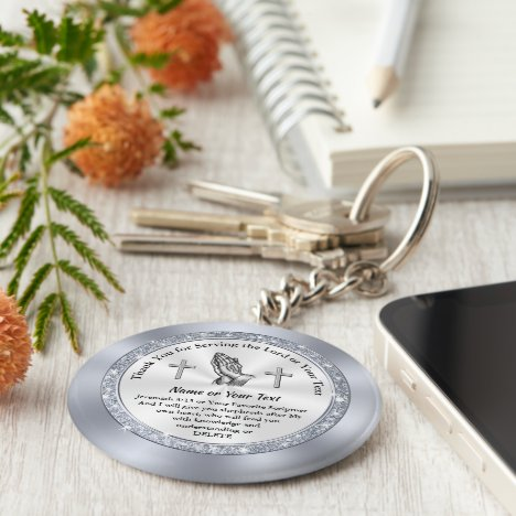 Custom Inexpensive Gifts for Church Volunteers Keychain