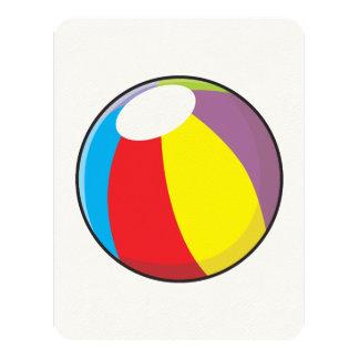 Custom Inflatable Plastic Beach Ball Invitations