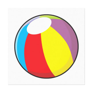 Custom Inflatable Plastic Beach Ball Invitations Stretched Canvas Prints
