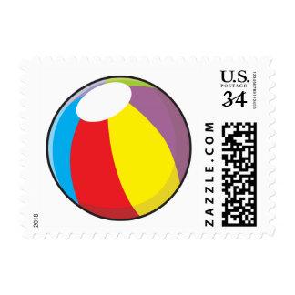 Custom Inflatable Plastic Beach Ball Invitations Postage Stamps