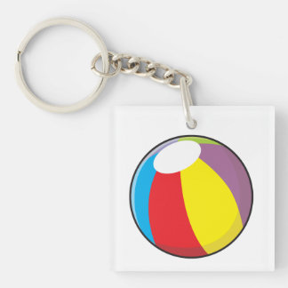 Custom Inflatable Plastic Beach Ball Mugs Buttons Double-Sided Square Acrylic Keychain