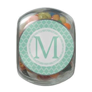 Custom Initial Jelly Belly Candy Glass Jar