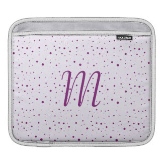 Custom Initial Lilac and Purple Spotty Sleeve For iPads