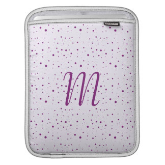 Custom Initial Lilac and Purple Spotty Sleeves For iPads