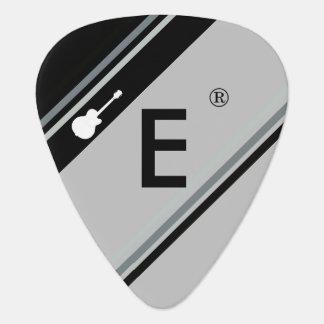 custom initial modern monogram guitar pick