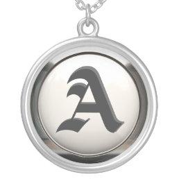 Custom Initial Monogram Necklace