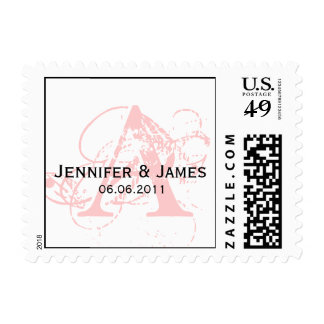 Custom Initial Names Date Wedding Postage