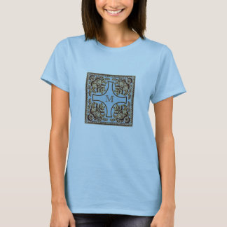 Custom Initial Ornate Victorian T-Shirt