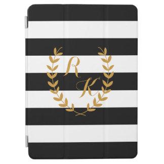 Custom Initial Preppy iPad Case with Golden Wreath iPad Air Cover