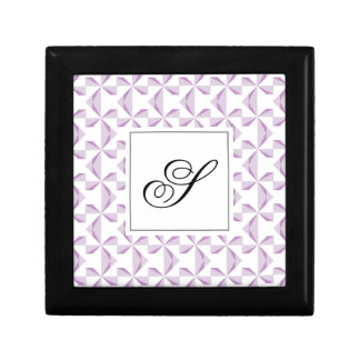 Custom Initial Purple Pinwheels Jewelry Box