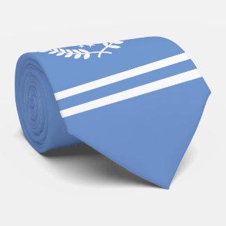 Custom Initials Hockey Fan ALL-STAR pale blue Neck Tie