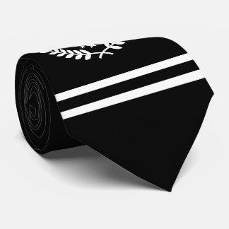 Custom Initials Hockey Player / Fan All Star Black Neck Tie