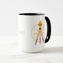 Custom Initials Land Surveyor Compass Mug