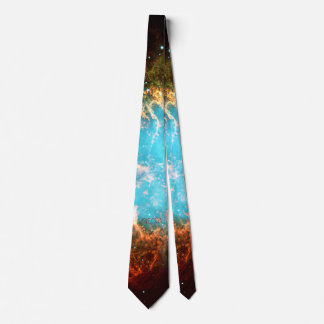 Custom initials / monogram Crab Nebula in Taurus Neck Tie