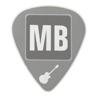 custom initials monogram music acetal guitar pick