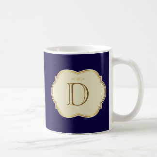 Custom Initials Monogrammed Blue Mug