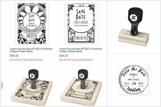 Custom INK stamps incl Save The Date