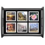 Custom Instagram 6 Photo Collage Serving Tray