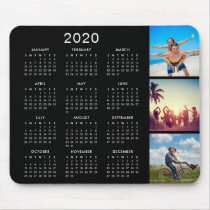 Custom Instagram Photo Collage 2020 Calendar Mouse Pad