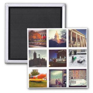 Custom Instagram Photo Collage 2 Inch Square Magnet