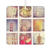 Custom Instagram Photo Collage Car Air Freshener