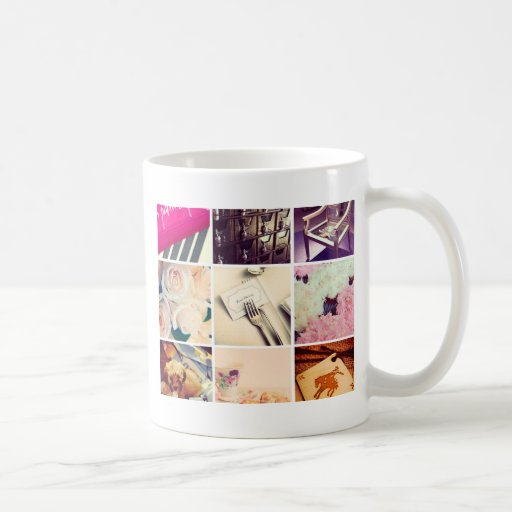 Custom Instagram Photo Collage Coffee Mug Zazzle