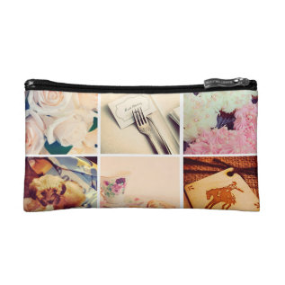Custom Instagram Photo Collage Cosmetic Bag at Zazzle