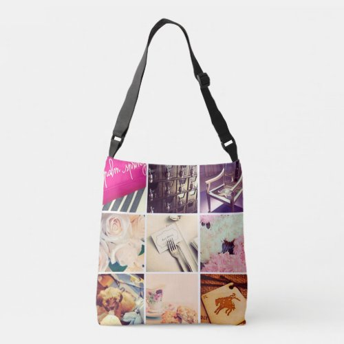 Custom Instagram Photo Collage Cross Body Bag