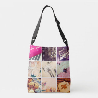 Custom Instagram Photo Collage Crossbody Bag