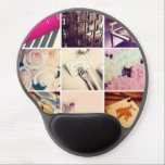 "Custom Instagram Photo Collage Gel Mouse Pad<br><div class=""desc"">Custom Instagram Photo Collage Gel Mouse Pad. Decorate your office or home with a custom contoured oval mousepad. Featuring an ergonomic gel pad wrist support and non-skid black plastic base,  this mousepad will look great with your images,  text,  or designs.</div>"