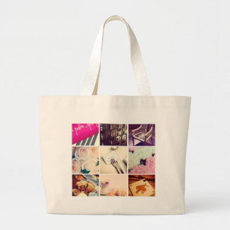 Custom Instagram Photo Collage Jumbo Tote Bag