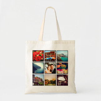 Custom Instagram Photo Collage Personalized Tote Tote Bags