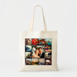 Custom Instagram Photo Collage Personalized Tote Bag